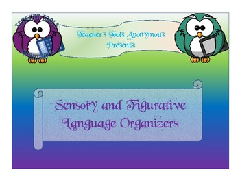 Sensory and Figurative Language Graphic Organizers