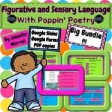 Sensory and Figurative Language PLUS Poppin' Poetry Bundle