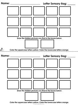 Sensory and Skill Bag Packet