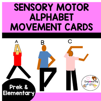 Sensory motor MOVEMENT CARDS TO FORM THE ALPHABET ! prek12345