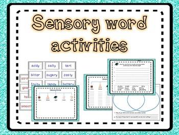 Sensory word activities