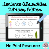 Absurdities In Sentences Activity No Print Speech Therapy | Distance Learning