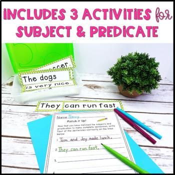 Sentence Activities Pack