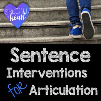Sentence Articulation Interventions for Teachers: Tier 2