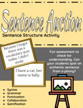Sentence Auction - sentence structure activity