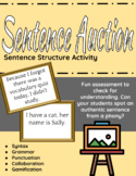 Sentence Auction - sentence structure activity