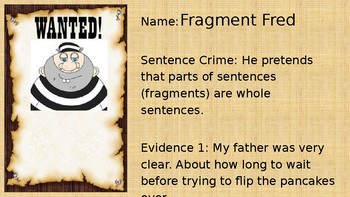 Sentence Bad Guys Writing Run-ons Fragments Comma Splice Sentences STAAR