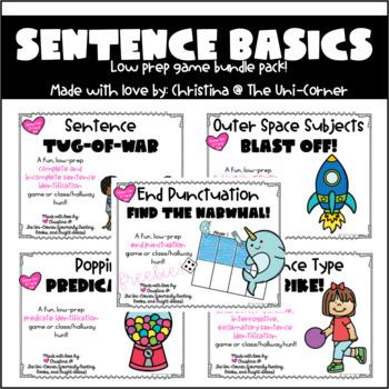 Sentence Basics Game Pack