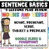 Sentence Basics - Nouns and Verbs | Distance Learning | Pr
