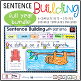 Sentence Builder Writing Sentences Kits Full Year Bundle Sets 1-6