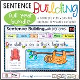 Sentence Builder Writing Sentences Kits Full Year Bundle Sets 1-6