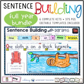Sentence Builder 6-Pack Full Year Bundle : Sets 1-6