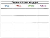 Sentence Builder - A Hands-On Manipulative for Struggling Readers