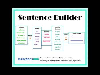 Sentence Builder: A Tool for Developing Academic Language