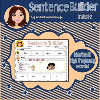 Sentence Builder: Basic Sight Words