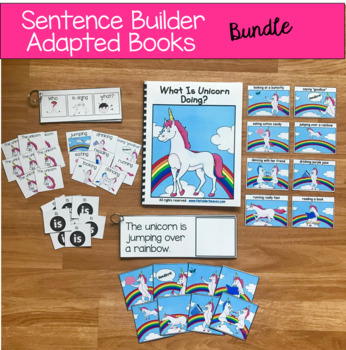 Sentence Builder Books Growing Bundle