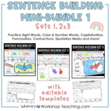 Sentence Builder MiniBundle Sets 1 2 3 Sentence Writing Pr