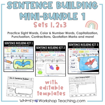 Sentence Builder Sets 1, 2, 3 (and Editable Page)