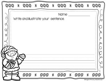 Sentence Building Cards for Christmas