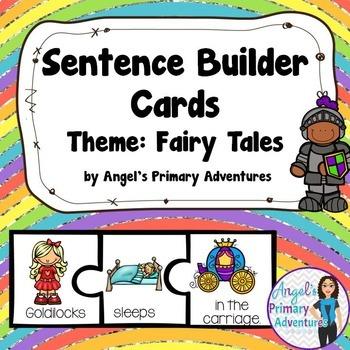 Sentence Builder Cards:  Fairy Tale Themed