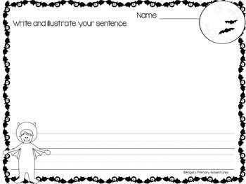 Sentence Builder Cards: Halloween Themed