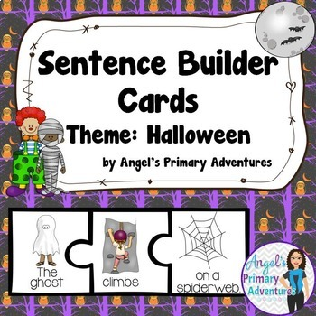 Sentence Building Cards for Halloween