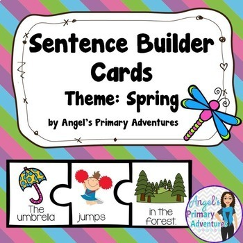 Sentence Builder Cards:  Spring Theme