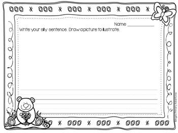 Sentence Builder Cards:  Spring Theme