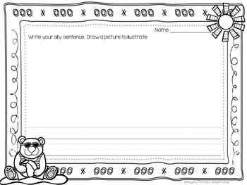 Sentence Builder Cards:  Summer Theme