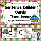 Sentence Building Cards for Summer