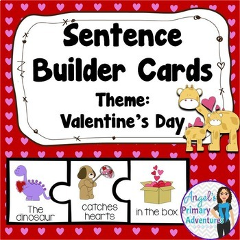 Sentence Building Cards for Valentine's Day