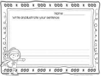 Sentence Building Cards for Winter