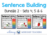 Sentence Building Bundle 2 - Sets 4 5 6