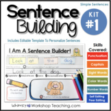 Sentence Building Kit 1 -Self-Editing Sight Word Sentences (Editable)