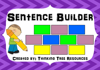 Sentence Builder Literacy Activity