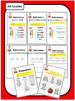 Sentence Builder: Over 16 Sentence Patterns!