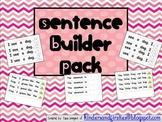 Kindergarten Word Work: Sentence Builder Pack