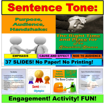 Sentence Variety, PowerPoint Unit: BUNDLE
