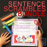 Sentence Builder SENTENCE SCRAMBLE cut and paste BUNDLE with sight words