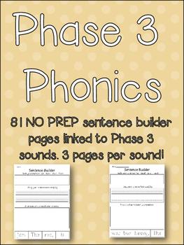 Sentence Builder - Sentences, handwriting, comprehension! - 81 NO PREP pages!
