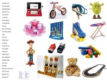 Sentence Builder - Toys!