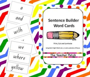 Sentence Builder Word Cards