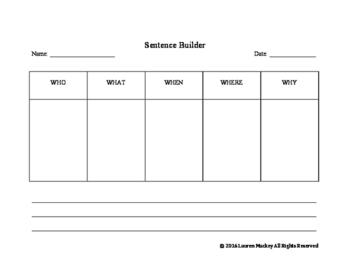Sentence Builder template
