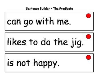 Sentence Builder with Subject and Predicate
