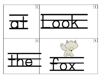 Sentence Builder Center ARCTIC animal edition with recording sheet