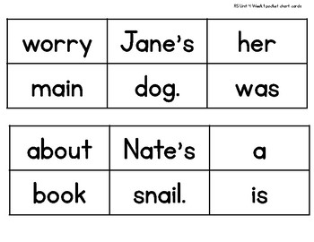Sentence Builders {1st Grade Reading Street Unit 4}
