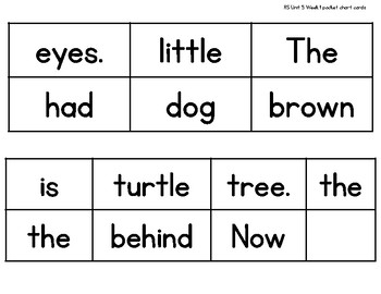 Sentence Builders {1st Grade Reading Street Unit 5}