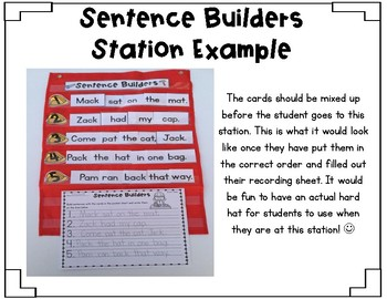 Sentence Builders BUNDLE {1st Grade Reading Street Units 1-5}