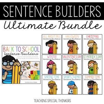 Sentence Builders Bundle: Writing, Language, & Comprehension Practice