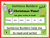 Sentence Builders - Christmas Time!!